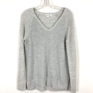 GAP metallic thread v-neck pullover sweater